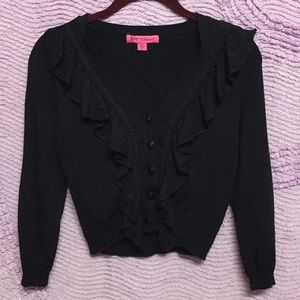 Black Betsey Johnson Cardigan